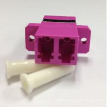 LC / PC Om4 Violeta Adaptadores de fibra óptica