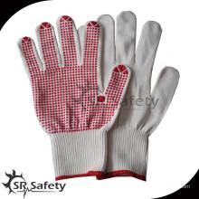 SRSafety 13g трикотажные пвх-пунктирные хлопчатобумажные перчатки / трикотажная хлопчатобумажная перчатка