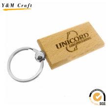 Fashion Survenir Gift Custom House Logo Wood Key Ring Wholesale
