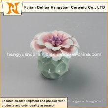 New Style Empty Ceramic Perfume Bottle with Flower Cap