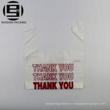 Imprimé merci sac en plastique de t-shirt à vendre