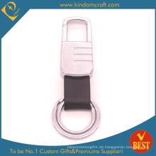 China Maßgeschneiderte hochwertige Echtleder Schlüsselanhänger mit speziellen Design