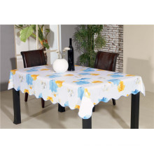 Bunte PVC gedruckte Muster Tableclth Flanell Backing Tischdecke