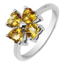Moda joias de prata citrino anéis (GR0012)