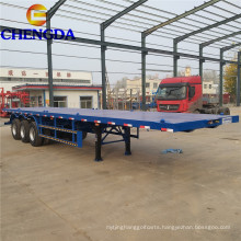3 Axle 40 Ft Flatbed Container Semi Trailers