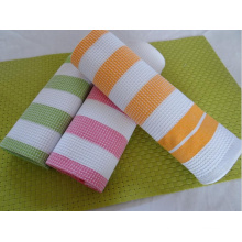 (BC-KT1020) Hot-Sell High Quality Stripe Tea Towel Kitchen Towel