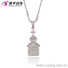32220 moda elegante colgante de cadena de joyería de imitación de rodio en aleación de cobre