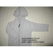 Cashmere Baby Cable Hoody Wear