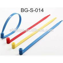 vedantes fixos em plástico BG-S-014, selo de segurança