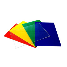 Polycarbonate Sheet 4* 8  anti-uv coated Plastic Solid Clear Sale Max Green Red Orange Blue Cross Sun  Type