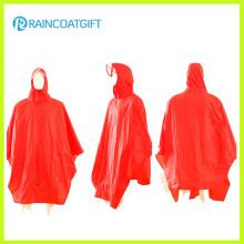 100% Polyester PVC Revêtement Vélo Rain Poncho Rpy-051