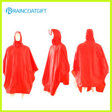 100% Polyester PVC Beschichtung Fahrrad Regen Poncho Rpy-051
