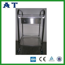 Two layers Collapsible stainless steel Instrument trolley