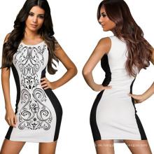 Sexy Frauen Bodycon abnehmen Taille Black Cocktail MIDI-Kleid