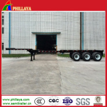 Reboque telescópico da cama lisa do recipiente do caminhão 2/3 dos eixos 20-53FT semi