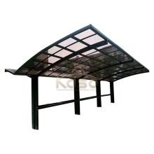 Pavillon aus Holz Glasdach Carport Garage