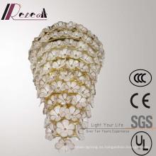 Lámpara de pared decorativa blanca de la flor del vidrio del hotel europeo