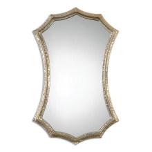 Чеканной серебряной металлической рамке Настенное Зеркало для домашнего украшения