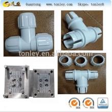Tubo de PVC plástico t-filial, moldagem de plástico de curvatura inection, fabricante de molde