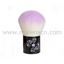 Alta qualidade Kabuki escova de maquiagem com padrão de flor