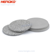 Factory direct supply micron porosity sintered ss 316 316L stainless steel disc filter for pharmaceutical