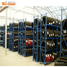 Heavy duty tire and wheel display rack for 4s store