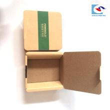 Пользовательские логотип небольшой крафт электронного продукта bluetooth-гарнитура бумажная упаковывая с рукавом