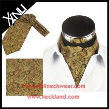 2015 Mens Nova Moda Impresso Gravata Cravat Ascot Seda