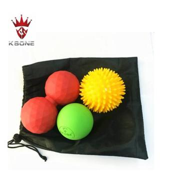 double lacrosse spiky massage ball for feet