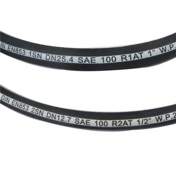 Dos mangueras de acero resistentes a la tracción de alta resistencia del medio ambiente de las trenzas de acero