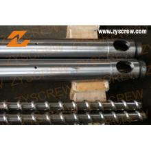 Extrusora monohusillo barril para línea de extrusión
