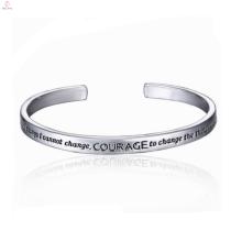 2017 pas cher alliage coréen placage blanc bracelet en argent pour les hommes