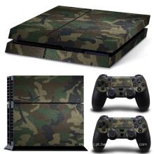 Camuflagem removível Camo padrão Vinyl Skin Sticker Film para PlayStation 4 PS4 Console + 2Pcs Free Controller Cover Decals