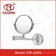 Двойное боковое настенное круглое косметическое зеркало