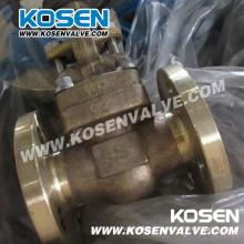 Válvulas de porta de aço forjadas bronze de alumínio de B148 C95800