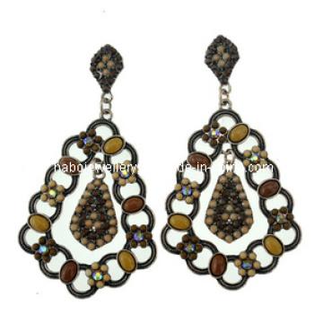 Boucle d'oreille à la pierre en résine de style Bohemia à la mode (XER13100)