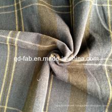 Lino / hilo de algodón Teñido de tela (QF13-0756)