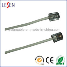 Round Telephone Cable with 6p2c Plugs