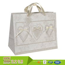 Luxury Exquisite Gift Shopping Recycled Packaging Custom Logo Printing Paper Bags With Ribbon Handles