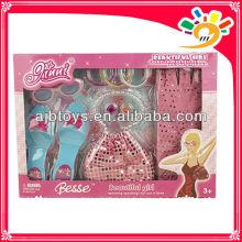 Plastikmädchendekorationspielsatz / Mädchenschuhhandtaschengläser
