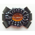 Resin Diamond Centered Plastic Beads Surround Fabric Shoe Flower