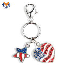 Logo de la société de métal USA logo coeur trousseau