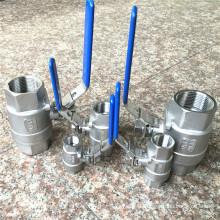 Robinet à tournant sphérique de l'acier inoxydable 2PC de DIN avec les extrémités filetées Bsp