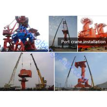Портал порта судового порта Крановый кран-док