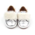Baby Äkta Cow Leather Sliver Causal Shoes