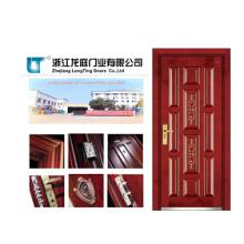 Porta blindada de madeira de aço (LT-407)