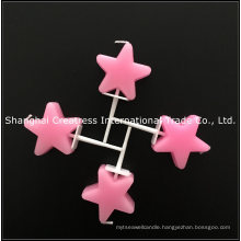 Factory Supplier Smokeless Pink Star Shaped Birthday Candles for a Cake