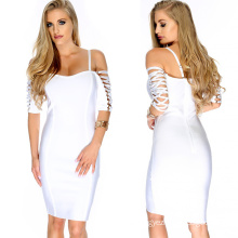 Slip Bandage Dress with Strapless Sexy Dress