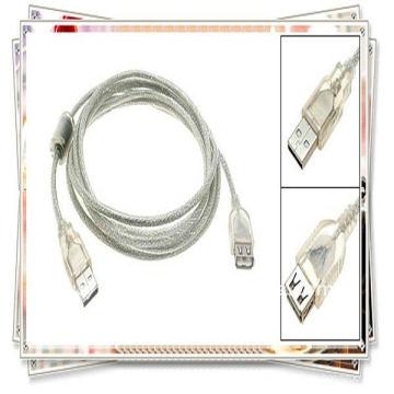 Câble de rallonge USB 2.0 de haute qualité 5m 16ft USB am to af câble transparent blanc