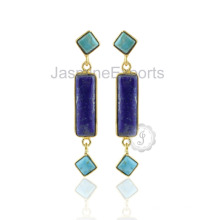 925 Sterling Silver Jewelry Lapis Gemstone Silver Jewelry For Birthday Gift